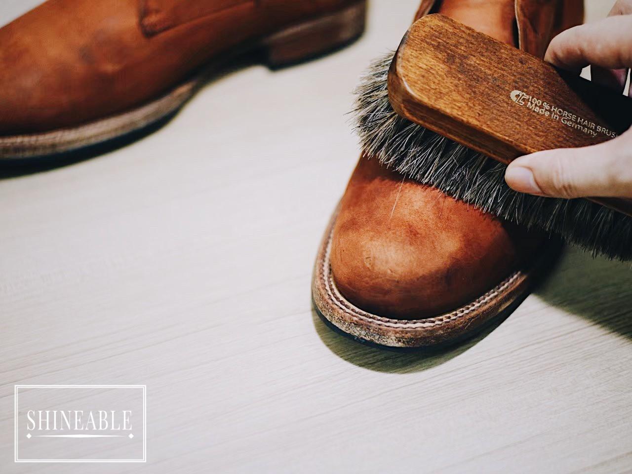 Mink oil leather care