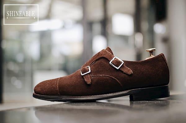 รีวิวรองเท้าหนัง Meermin Mallorca Shoes รุ่น 101341 Brown Suede Double Monk