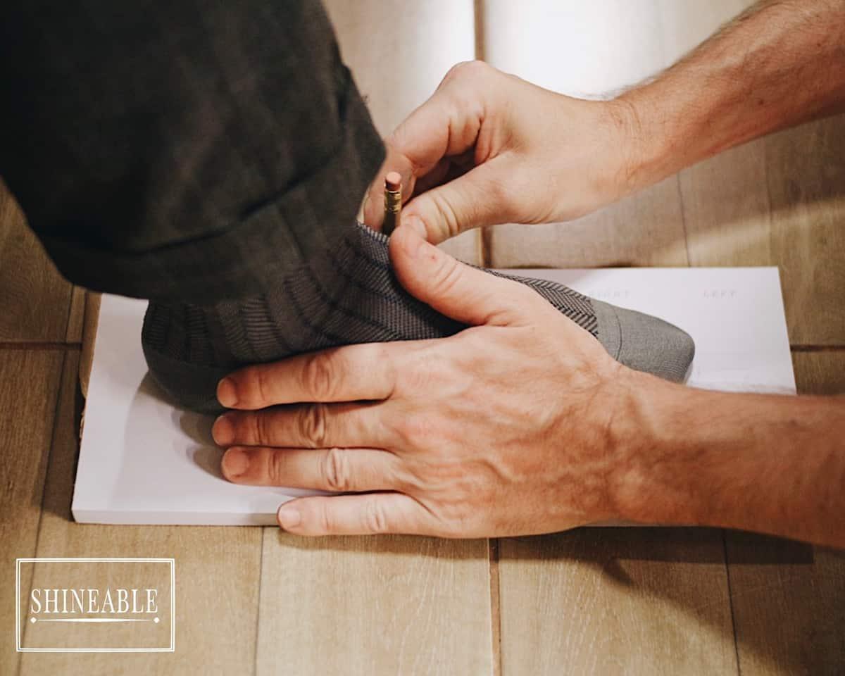 วัดเท้าแบบละเอียดโดย Bespoke Shoemaker แบรนด์ไทย Don's Footwear